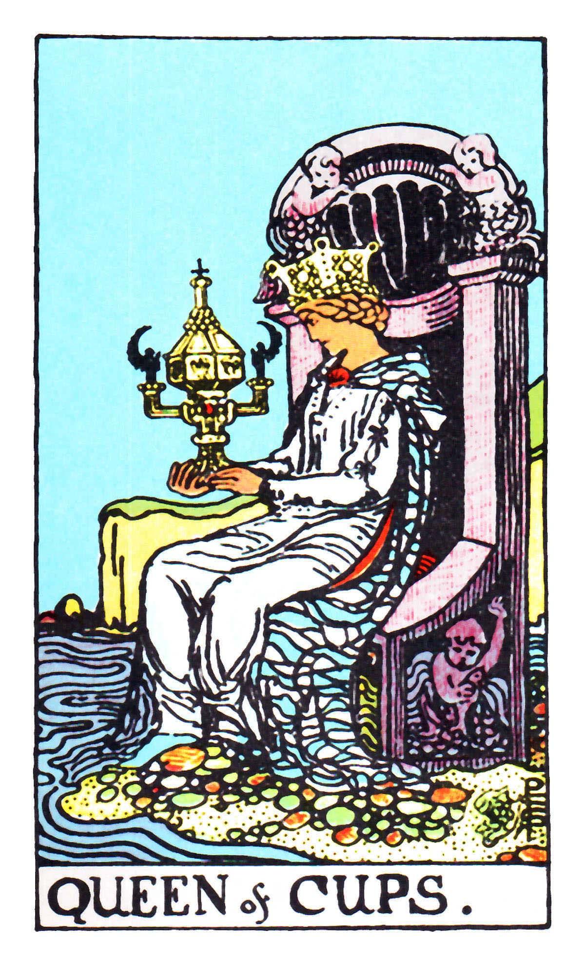 聖杯皇后 Queen of Cups 塔羅牌牌意