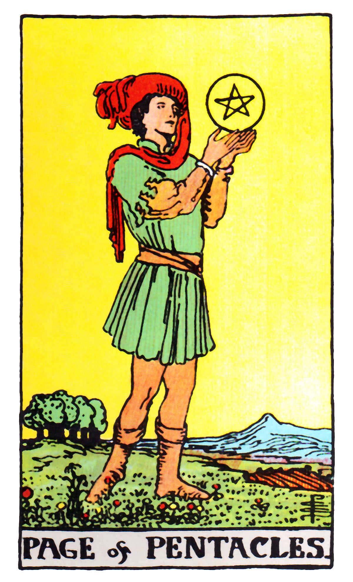 星幣侍者 (金幣/錢幣侍從) Page of Pentacles 塔羅牌牌意