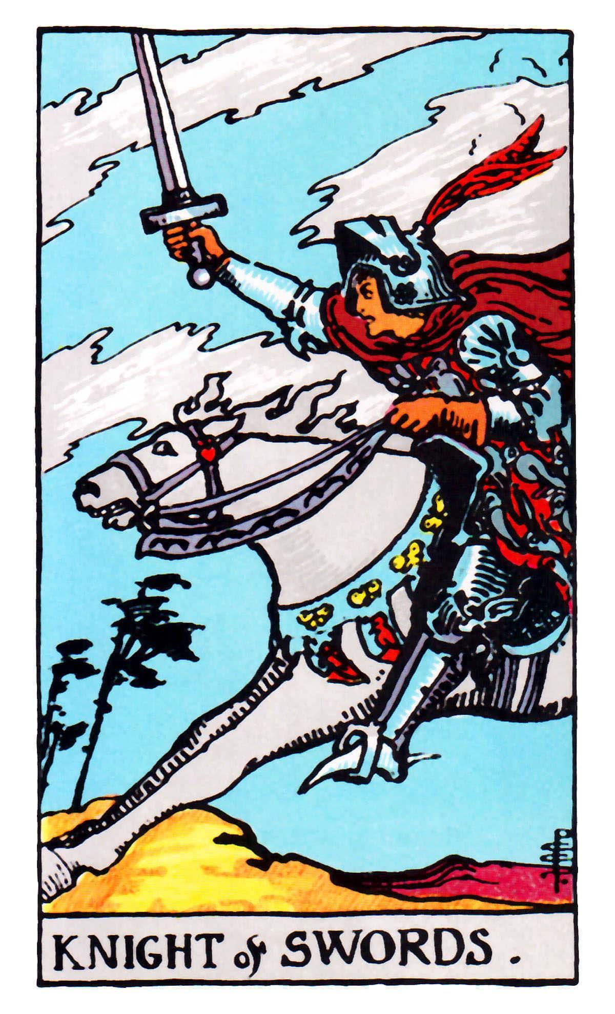 寶劍騎士 Knight of Swords 塔羅牌牌意