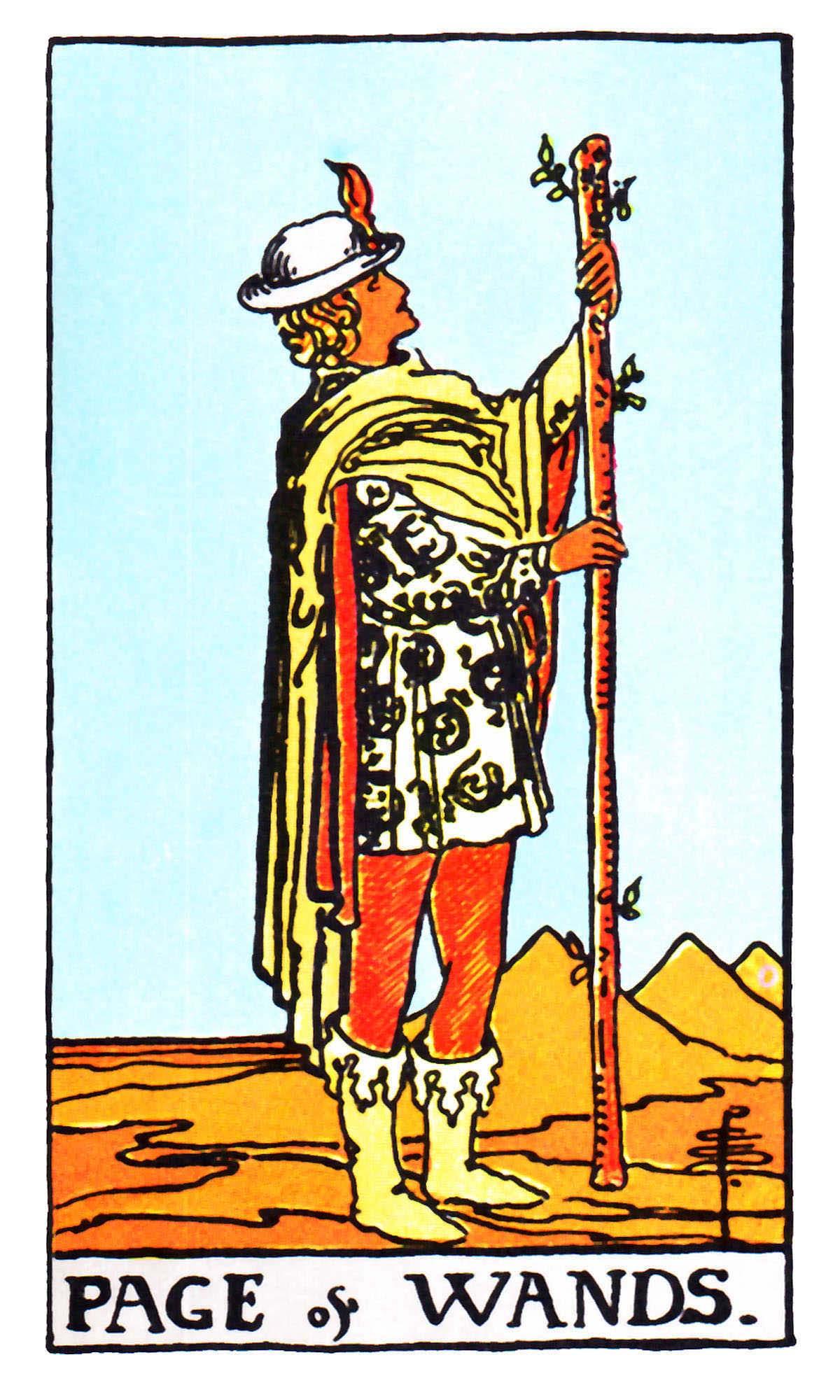 權杖侍從 Page of Wands 塔羅牌牌意