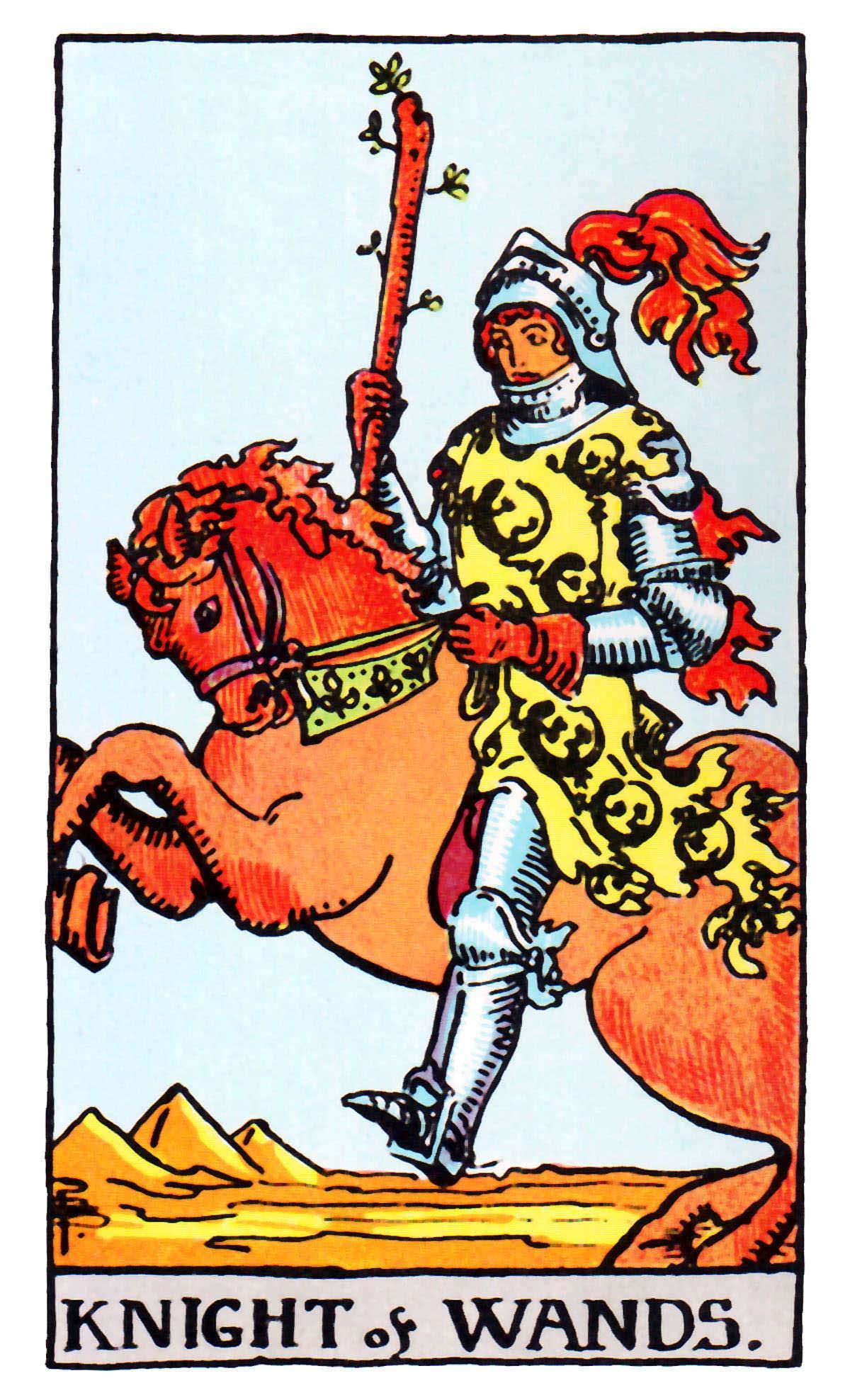 權杖騎士 Knight of Wands 塔羅牌牌意