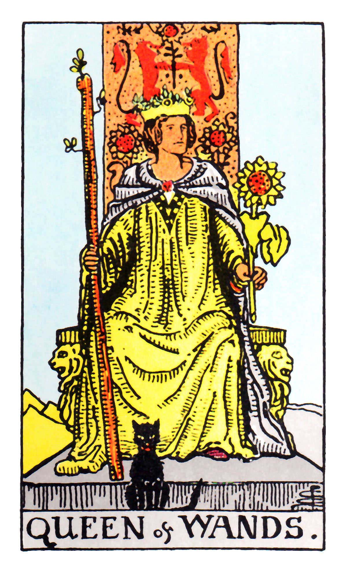 權杖皇后(王后) Queen of Wands 塔羅牌牌意